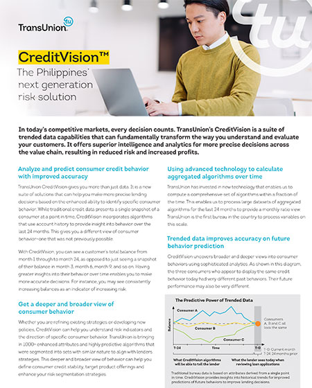 CreditVision Credit Vision Introduction Assest Sheet Thumbnail